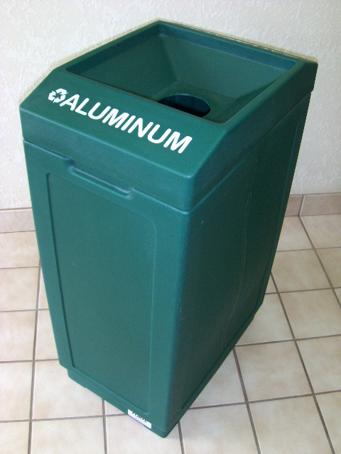 Open Top Aluminum Recycling Bin 8001841