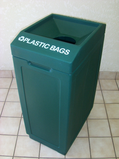 Open Top Plastic Bags Recycling Bin